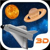 Space Rocket 3D Theme icon
