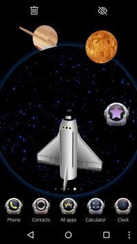 Space Rocket 3D Theme poster
