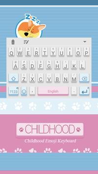 Childhood Theme&Emoji Keyboard poster