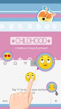 Childhood Theme&Emoji Keyboard apk screenshot