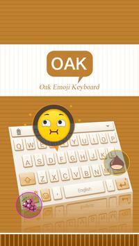 Oak Theme&Emoji Keyboard poster