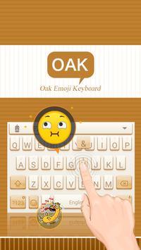 Oak Theme&Emoji Keyboard apk screenshot