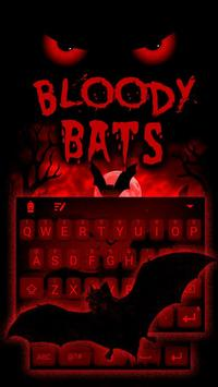 Bloody Bats Theme&Emoji Keyboard poster