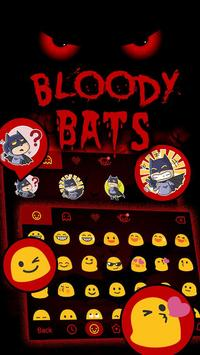 Bloody Bats Theme&Emoji Keyboard apk screenshot