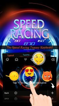 Speed Racing Theme&Emoji Keyboard apk screenshot