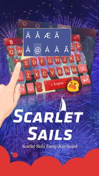 Scarlet Sails Theme&Emoji Keyboard apk screenshot