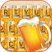 Bubbling Beer Theme&Emoji Keyboard icon