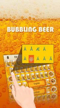 Bubbling Beer Theme&Emoji Keyboard apk screenshot