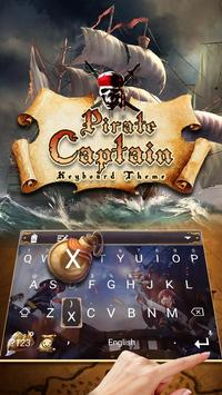 Cool Pirate Captain Emoji Keyboard Theme poster