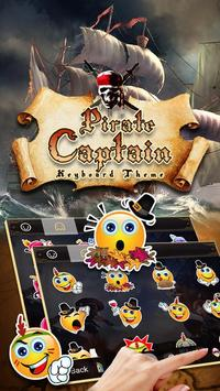 Cool Pirate Captain Emoji Keyboard Theme apk screenshot