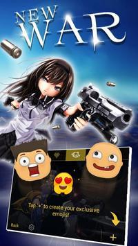 New War Theme&Emoji Keyboard screenshot 2