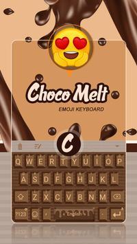 Choco Melt Theme&Emoji Keyboard poster