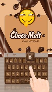 Choco Melt Theme&Emoji Keyboard apk screenshot