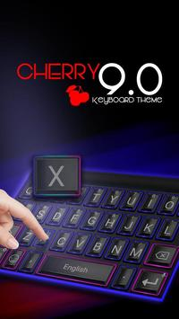 Cherry 9.0 Theme&Emoji Keyboard poster