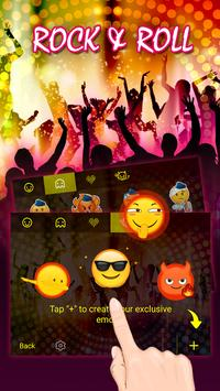 Rock and Roll Theme&Emoji Keyboard apk screenshot