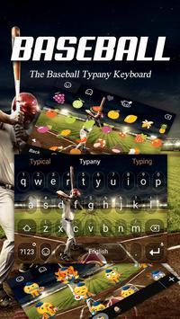 Baseball Night Theme&Emoji Keyboard poster