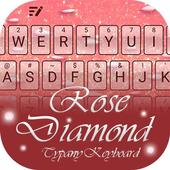 Rose Diamond Theme&Emoji Keyboard icon