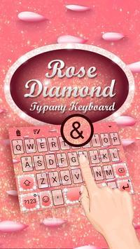 Rose Diamond Theme&Emoji Keyboard poster