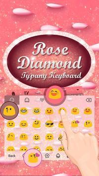 Rose Diamond Theme&Emoji Keyboard apk screenshot