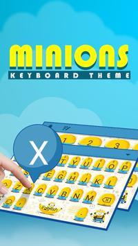 Cute Minions Theme&Emoji Keyboard poster