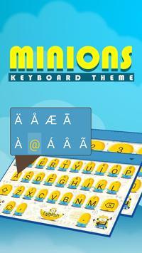 Cute Minions Theme&Emoji Keyboard apk screenshot