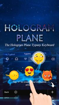 Hologram Plane Tech  Theme&Emoji Keyboard apk screenshot