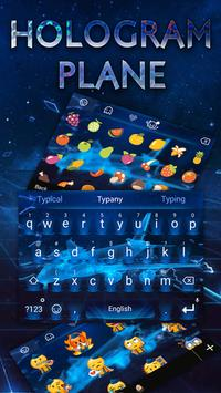 Hologram Plane Tech  Theme&Emoji Keyboard poster