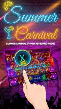 Summer Carnival Theme&Emoji Keyboard poster