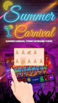 Summer Carnival Theme&Emoji Keyboard screenshot 1
