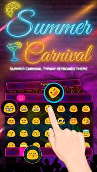 Summer Carnival Theme&Emoji Keyboard screenshot 2