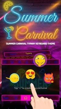 Summer Carnival Theme&Emoji Keyboard screenshot 3