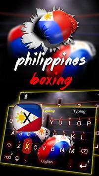 Philippines Boxing Theme&Emoji Keyboard poster