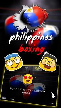 Philippines Boxing Theme&Emoji Keyboard apk screenshot