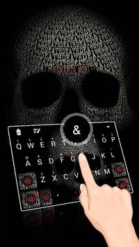 Skull Cool Tech Theme&Emoji Keyboard poster