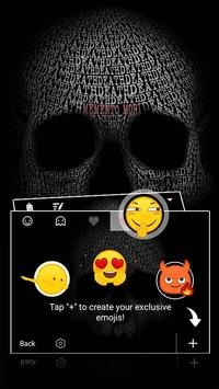 Skull Cool Tech Theme&Emoji Keyboard apk screenshot