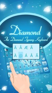 Sparkling Diamond Theme&Emoji Keyboard screenshot 1