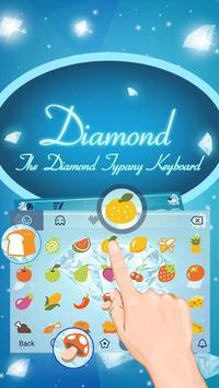 Sparkling Diamond Theme&Emoji Keyboard screenshot 2