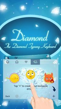 Sparkling Diamond Theme&Emoji Keyboard screenshot 3