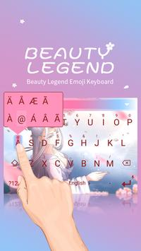 Beauty Legend Theme&Emoji Keyboard screenshot 1