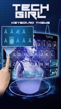 Tech Girl Theme&Emoji Keyboard screenshot 4
