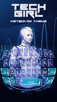 Tech Girl Theme&Emoji Keyboard poster