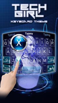 Tech Girl Theme&Emoji Keyboard screenshot 1