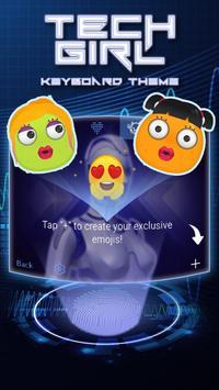 Tech Girl Theme&Emoji Keyboard screenshot 3