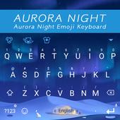 Aurora Night Theme&Emoji Keyboard icon