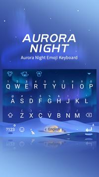 Aurora Night Theme&Emoji Keyboard poster