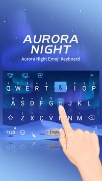 Aurora Night Theme&Emoji Keyboard apk screenshot