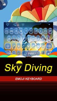Sky Diving Theme&Emoji Keyboard poster