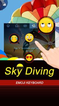 Sky Diving Theme&Emoji Keyboard apk screenshot
