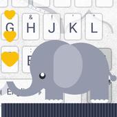 Baby Elephant Theme&Emoji Keyboard icon