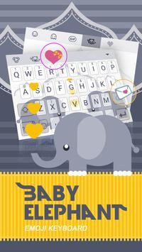 Baby Elephant Theme&Emoji Keyboard poster